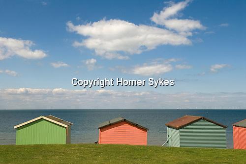 Tankerton beach huts near Whitstabel Kent England.