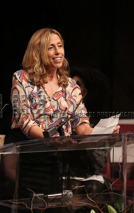 Amanda Green on stage at the The Lilly Awards  at Playwrights Horizons on May 22, 2017 in New York City.