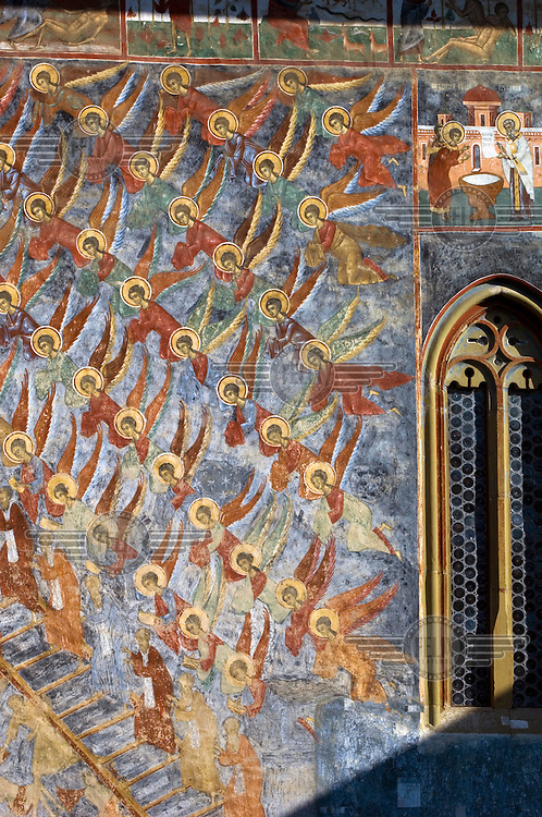 A fresco entitled the Ladder to Paradise adorns the walls of the 16th Century Sucevita Monastery...