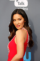 Olivia Munn attends the 23rd Annual Critics' Choice Awards at Barker Hangar in Santa Monica, Los Angeles, USA, on 11 January 2018. Photo: Hubert Boesl - NO WIRE SERVICE - Photo: Hubert Boesl/dpa /MediaPunch ***FOR USA ONLY***
