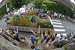 The publicity caravan during Stage 10 of the 104th edition of the Tour de France 2017, running 178km from Perigueux to Bergerac, France. 11th July 2017.<br /> Picture: ASO/Bruno Bade | Cyclefile<br /> <br /> <br /> All photos usage must carry mandatory copyright credit (&copy; Cyclefile | ASO/Bruno Bade)