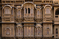 The Patwa Ki Haveli is the finest example of sandstone construction in the GOLDEN CITY of JAISALMER - RAJASTHAN, INDIA