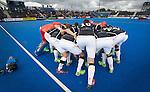 LONDON -  Unibet Eurohockey Championships 2015 in  London. Germany v France . The German team huddle  WSP Copyright  KOEN SUYK