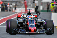 March 25, 2017: Romain Grosjean (FRA) #8 from the Haas F1 Team leaves the pits for the qualifying session at the 2017 Australian Formula One Grand Prix at Albert Park, Melbourne, Australia. Photo Sydney Low