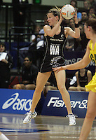 12.10.2006. Silver Ferns Adine Wilson in action during the First Netball match between the Silver Ferns and Australia played in Wellington. Mandatory Photo Credit: ©Michael Bradley.