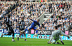 during the Premier League match at the St James' Park Stadium, Newcastle. Picture date 5th May 2008. Picture credit should read: Richard Lee/Sportimage