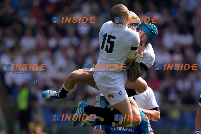 "Mike Brown Inghilterra.<br /> Roma 15-03-2014, Stadio Olimpico. Sei Nazioni di Rugby - Italia vs Inghilterra / Rugby Six Nations - Italy vs England - Foto ""Antonietta Baldassarre"" Insidefoto"