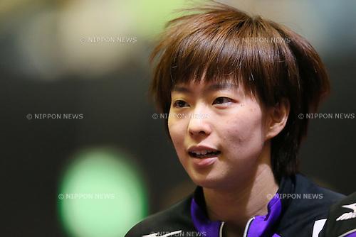 Kasumi Ishikawa (JPN), APRIL 29, 2014 - Table Tennis :<br /> 2014 World Team Table Tennis Championships women's  Group B  match between Japan 3-0 Hungary at 1st Yoyogi Gymnasium, Tokyo, Japan.  (Photo by Yohei Osada/AFLO SPORT)