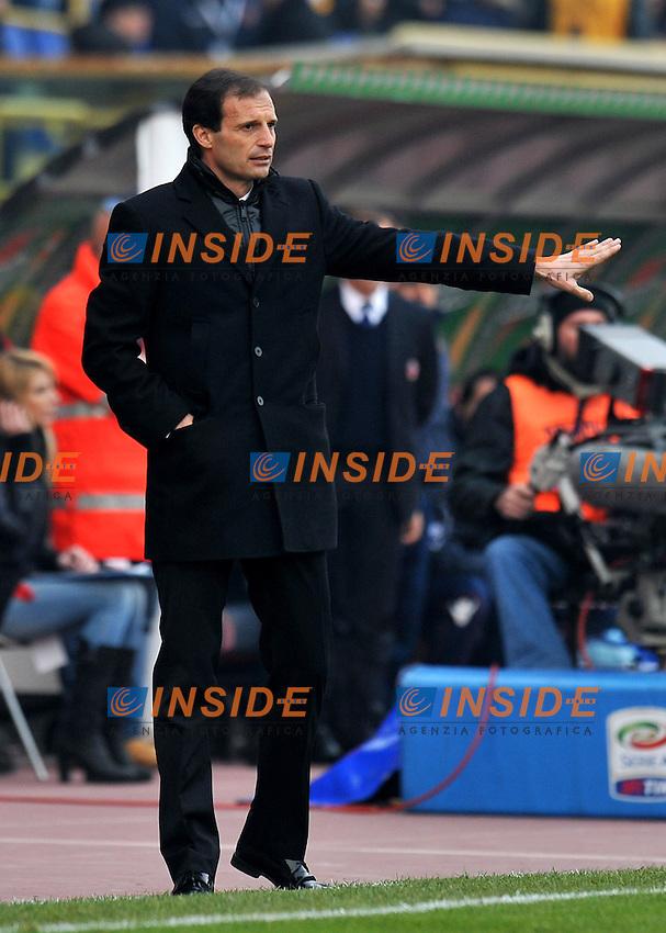 """Massimiliano ALLGERI (Milan).Bologna 11/12/2011 Stadio """"Renato Dall Ara"""".Serie A 2011/2012.Football Calcio Bologna Vs Milan.Foto Insidefoto Alessandro Sabattini."""