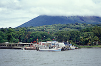 Ferryboat docking at Moyogalpa, Isla de Ometepe, Nicaragua