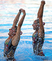 Roma 20th July 2009 - 13th Fina World Championships From 17th to 2nd August 2009..Rome (Italy) 20 07 2009..Synchronized swimming - Technical duet preliminaries..Team Spain......photo: Roma2009.com/InsideFoto/SeaSee.com
