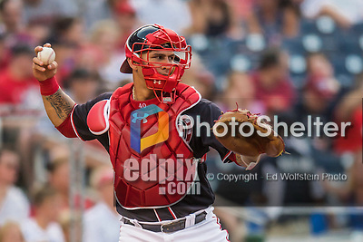 22 July 2016: Washington Nationals catcher Wilson Ramos in action against the San Diego Padres at Nationals Park in Washington, DC. The Padres defeated the Nationals 5-3 to take the first game of their 3-game, weekend series. Mandatory Credit: Ed Wolfstein Photo *** RAW (NEF) Image File Available ***