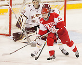 Samantha Sutherland (BU - 20) -  The Boston College Eagles defeated the visiting Boston University Terriers 5-0 on BC's senior night on Thursday, February 19, 2015, at Kelley Rink in Conte Forum in Chestnut Hill, Massachusetts.