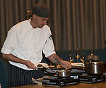 A photograph taken during a cooking demo inside Charlie Palmer Lounge in the Grand Sierra Resort on Thursday night, October 12, 2017.