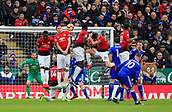 3rd February 2019, King Power Stadium, Leicester, England; EPL Premier League Football, Leicester City versus Manchester United; a free-kick by James Maddison of Leicester City hits Nemanja Matic of Manchester United and goes out for a corner