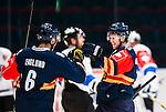 Stockholm 2015-09-04 Ishockey CHL Djurg&aring;rdens IF - EV Zug :  <br /> Djurg&aring;rdens Adam Ollas Mattsson firar sitt 2-1 m&aring;l med Andreas Englund  under matchen mellan Djurg&aring;rdens IF och EV Zug <br /> (Foto: Kenta J&ouml;nsson) Nyckelord:  Ishockey Hockey CHL Hovet Johanneshovs Isstadion Djurg&aring;rden DIF Zug jubel gl&auml;dje lycka glad happy