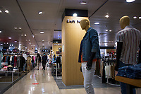 LISBON, PORTUGAL JUNE 15: People are seen walking inside El Corte Ingles Mall in Lisbon, on June 15, 2020. A delay on the planned reopening of malls in the Lisbon region has been reported after recording new clusters of the coronavirus outbreak. (Photo by Luis Boza/VIEWpress)