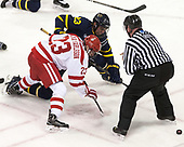 Jakob Forsbacka Karlsson (BU - 23), Alfred Larsson (Merrimack - 23), Joe Ross - The visiting Merrimack College Warriors defeated the Boston University Terriers 4-1 to complete a regular season sweep on Friday, January 27, 2017, at Agganis Arena in Boston, Massachusetts.The visiting Merrimack College Warriors defeated the Boston University Terriers 4-1 to complete a regular season sweep on Friday, January 27, 2017, at Agganis Arena in Boston, Massachusetts.