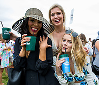 BALTIMORE, MD - MAY 20: A group of women pose for a photo while in the infield on Preakness Stakes Day at Pimlico Race Course on May 20, 2017 in Baltimore, Maryland.(Photo by Jesse Caris/Eclipse Sportswire/Getty Images)