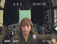BNPS.co.uk (01202 558833)<br /> Pic: SueAdcock/FAST/BNPS<br /> <br /> At 8G your bodyweight is 8 times normal - FAST guide Sue Adcock on one of over 600 spins she undertook in the centrifuge - this one going from 1G to 8G.<br /> <br /> Sci-fi 'Centrifuge' to open its doors to the public after 64 years...<br /> <br /> A remarkable Cold War relic which has put thousands of pilots through their G-force paces has made its final spin after six decades. <br /> <br /> The Top Secret building at the former RAE Farnborough test site is now open to the public for guided tours led by the scientists from FAST who used to work there.<br /> <br /> The Farnborough Centrifuge was used to simulate huge 9G forces - nine times more than a human body is designed to absorb - they would encounter while flying fast jets during combat operations.<br /> <br /> The pilot would sit in a small compartment replicating a cockpit at the end of the 60ft rotating arm and be propelled at over 60mph, spinning 30 times a minute.<br /> <br /> A staggering 122,133 tests were performed on it before it was decommissioned in March this year, with a new centrifuge installed at RAF Cranwell.<br /> <br /> It featured on an episode of Top Gear in 2000 when Jeremy Clarkson had a go on it at 3G, leaving him in obvious discomfort. He described the force exerted on him as like 'having an elephant sat on my chest'.<br /> <br /> The centrifuge, which is being displayed for the public for the first time, also appeared in the 1985 comedy film Spies Like Us starring Chevy Chase and Dan Ackroyd.