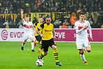 09.03.2019, Signal Iduna Park, Dortmund, GER, 1.FBL, Borussia Dortmund vs VfB Stuttgart, DFL REGULATIONS PROHIBIT ANY USE OF PHOTOGRAPHS AS IMAGE SEQUENCES AND/OR QUASI-VIDEO<br /> <br /> im Bild   picture shows:<br /> Paco Alcacer (Borussia Dortmund #9) auf dem Weg zum Tor, <br /> <br /> Foto &copy; nordphoto / Rauch