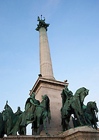 09 SEP 2010 - BUDAPEST, HUN - Heroes Square .(PHOTO (C) NIGEL FARROW)