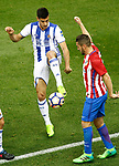 Atletico de Madrid's Koke Resurrecccion (r) and Real Sociedad's Yuri Berchiche during La Liga match. April 4,2017. (ALTERPHOTOS/Acero)