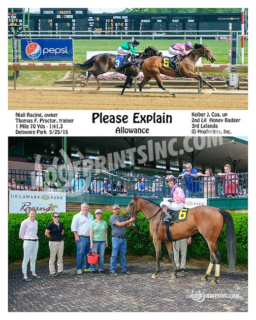 Please Explain winning at Delaware Park  on 5/25/15
