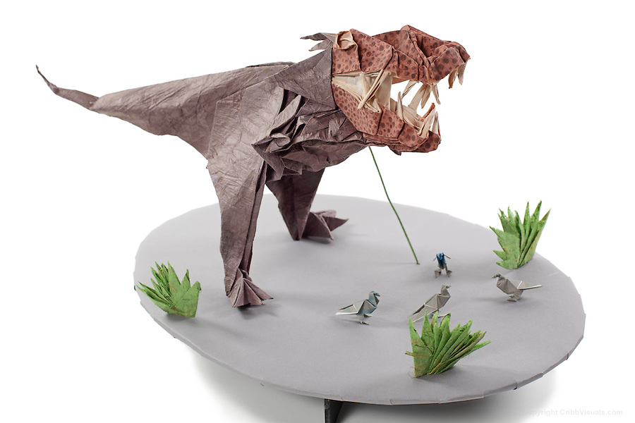 Origami.me - T-Rex, designed and folded by Yery J. Astroña ... | 600x900
