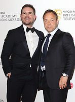 Martin Compston and Stephen Graham at the Virgin Media BAFTA Television Awards 2019 - Press Room at The Royal Festival Hall, London on May 12th 2019<br /> CAP/ROS<br /> ©ROS/Capital Pictures
