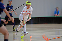 China's Yingying Chen in action during the World Floorball Championships 2017 Qualification for Asia Oceania Region - Malaysia v China at ASB Sports Centre , Wellington, New Zealand on Sunday 5 February 2017.<br /> Photo by Masanori Udagawa<br /> www.photowellington.photoshelter.com.