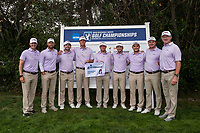 STANFORD, CA -- May 15, 2019. The Louisiana State Tigers men's golf team takes fifth after Round 3 of the NCAA Regionals at Stanford University Golf Course.