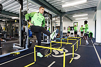 Kristoffer Peterson of Swansea City in the gym during the Swansea City Training Session at The Fairwood Training Ground in Swansea, Wales, UK. Wednesday 16 October 2019