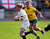 Izzy Noel-Smith in action during the 2017 International Women's Rugby Series rugby match between England Roses and Australia Wallaroos at Porirua Park in Wellington, New Zealand on Friday, 9 June 2017. Photo: Dave Lintott / lintottphoto.co.nz