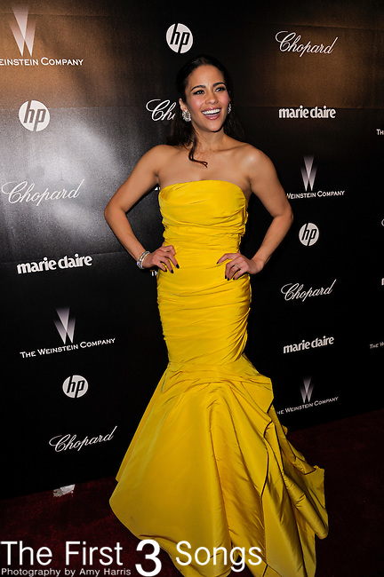 Paula Patton attends the 2012 Weinstein Company Golden Globes After Party at The Beverly Hilton Hotel in Beverly Hills, CA on January 15, 2012.