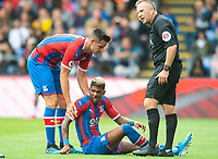 Crystal Palace Patrick van Aanholt during the Premier League match between Crystal Palace and Everton at Selhurst Park, London, England on 10 August 2019. Photo by Andrew Aleksiejczuk / PRiME Media Images.