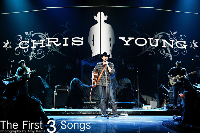 CHRIS YOUNG performs at Rupp Arena in Lexington, Kentucky on January 27, 2011.