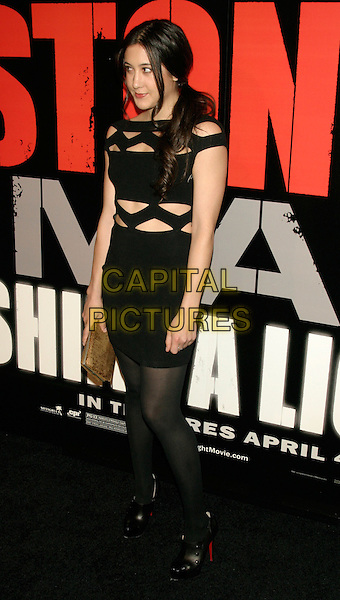"VANESSA CARLTON.New York Premiere of ""Shine A Light"" at the Ziegfeld Theater, New York, NY, USA..March 30th, 2008.full length black dress top skirt cut out away .CAP/LNC/TOM.©TOM/LNC/Capital Pictures."