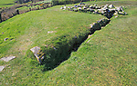 Water drainage channel at Drombeg stone circle site, County Cork, Ireland, Irish Republic