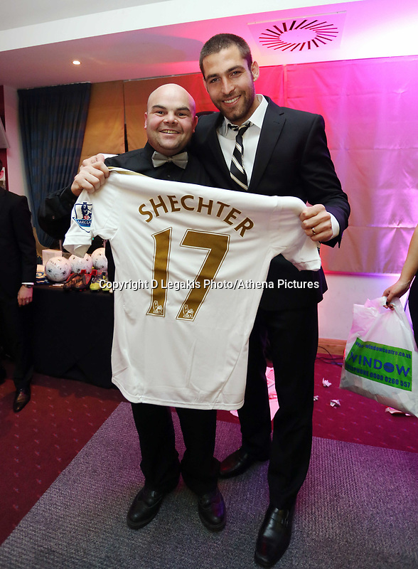 Pictured: Itay Shechter (R) Wednesday 10 April 2013<br /> Re: Swansea footballer Angel Rangel and wife Nicky's cancer charity fundraising dinner at the Liberty Stadium.