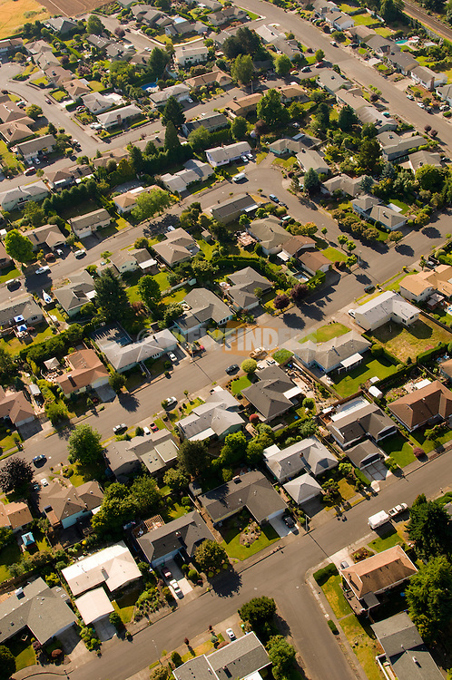 Aerial View of a Southeast Portland Neighborhood, Oregon