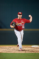 Palm Beach Cardinals relief pitcher Michael Heesch (55) during a game against the Bradenton Marauders on August 8, 2016 at McKechnie Field in Bradenton, Florida.  Bradenton defeated Palm Beach 5-4 in 11 innings.  (Mike Janes/Four Seam Images)