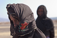 Afar girls in Danakil depression Ethiopia
