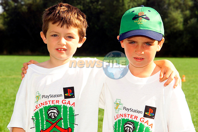 Niall Loughlin, Bettystown and Liam Ryan, Five Oaks who took part in the GAA Summer Camp at the Colmcilles GAA pitch..Picture: Paul Mohan/Newsfile