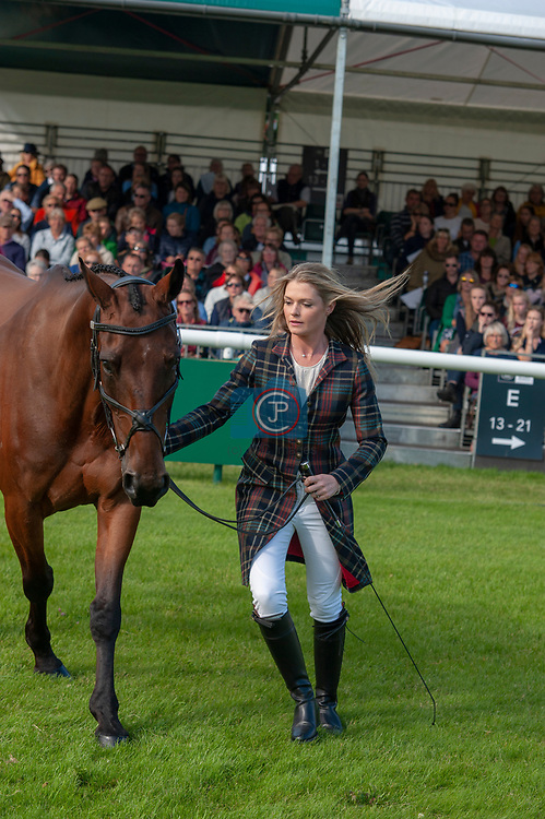 Stamford, Lincolnshire, United Kingdom, 4th September 2019, Julia Norman (GB) & Carryon Bobby Boy during the 1st Horse Inspection of the 2019 Land Rover Burghley Horse Trials, Credit: Jonathan Clarke/JPC Images