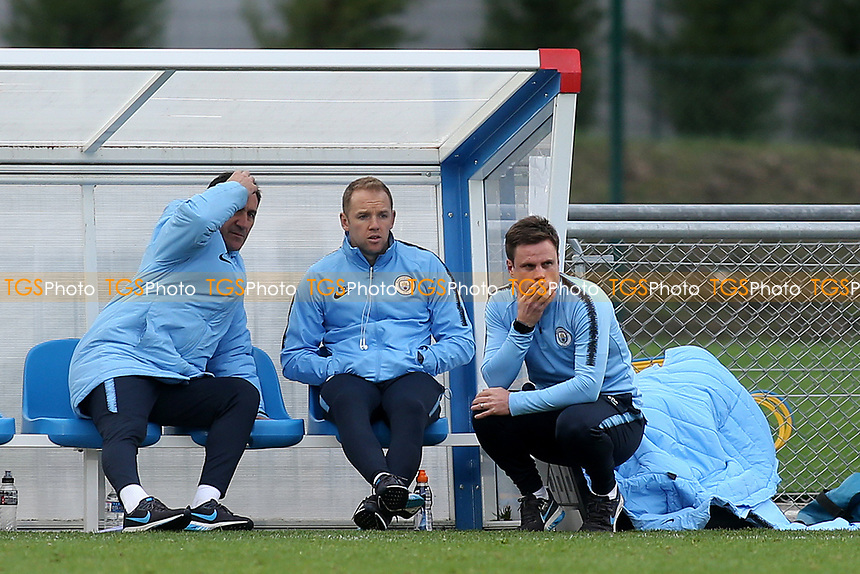 Paul Harsley (far right). Head Coach of Manchester City EDS during Lyon Under-19 vs Manchester City Under-19, UEFA Youth League Football at Groupama OL Academy on 27th November 2018