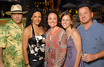 From left: Michael Saldana, Alma Saldana, Gray Deaton, Kristen Alexander and Chris Alexander at the Park Place pool party Saturday night June 20, 2009.(Dave Rossman/For the Chronicle)