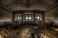 Found this place in the middle of nowhere in East Germany. From what I saw, I think this was a rich house, like a stately home. Then after the war I have know idea what it was used for.until  1955, the communist turned it into a nursing home. Then from 2000 it has been empty. The place was like a palace, beautiful oak panels, all carved..