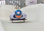 9 January 2016: Sergei Chudinov, competing for Russia, crosses the finish line on his second run of the day during the BMW IBSF World Cup Skeleton Championships at the Olympic Sports Track in Lake Placid, New York, USA. Chudinov ended the day with a combined 2-run time of 1:51.20 and a 16th place overall finish. Mandatory Credit: Ed Wolfstein Photo *** RAW (NEF) Image File Available ***