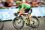 Green Jersey Peter Sagan (SVK) Bora-Hansgrohe in action during Stage 21 of the 2018 Tour de France running 116km from Houilles to Paris Champs-Elysees, France. 29th July 2018. <br /> Picture: ASO/Bruno Bade | Cyclefile<br /> All photos usage must carry mandatory copyright credit (&copy; Cyclefile | ASO/Bruno Bade)